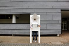 """""""Anonymous Singing,"""" an installation by Yuki Uebo. Users conquer shyness and sing favorite songs in public, albeit anonymously."""