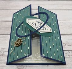 Know a classy guy who deserves a fancy fold card? This Interlocking Gate Fold is sure to impress him. The video tutorial includes step-by-step instructions plus tips on reinforcing the… Tri Fold Cards, Fancy Fold Cards, Folded Cards, Masculine Birthday Cards, Birthday Cards For Men, Masculine Cards, Male Birthday, Card Making Tutorials, Card Making Techniques