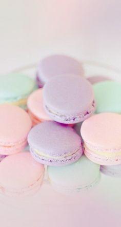 Sweet pastel macaroons iPhone wallpaper
