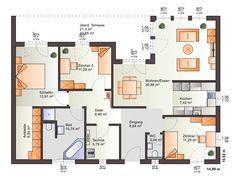 Grundriss Bungalow One 136 von Bärenhaus