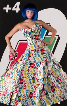 A shoot I did for a game fashion show. Cards are . - A shoot I did for a game fashion show. Cards are real. Dress is real. Only the background is a photoshopped card blown up large. Weird Fashion, Look Fashion, Fashion Show, Paper Fashion, Fashion Art, Fashion Design, Paper Clothes, Recycled Dress, Suits