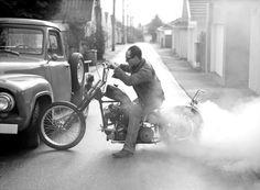 scott pommier motorcycle burnout bikes photo