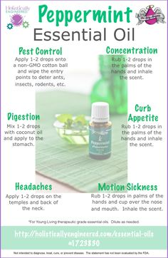 10 Ways to Use Peppermint Essential Oil - I use it everyday! Helps relieve tension headaches and clear sinus too. If you haven't tried essential oils - you must!