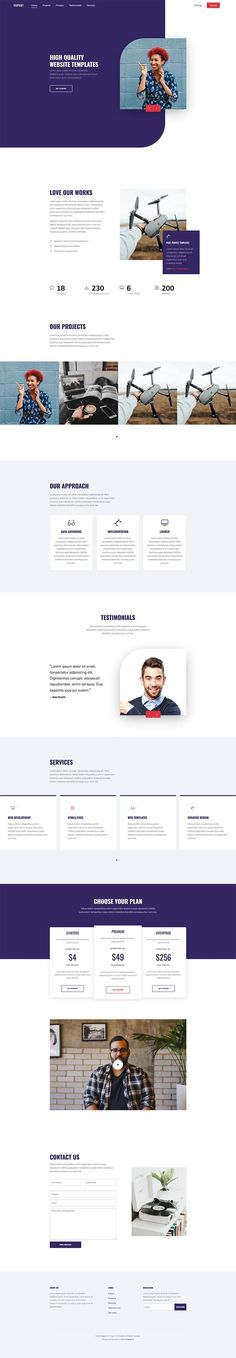 Free Resource to explore your imagine Free Web Design, One Page Website, Free Website Templates, Lightbox, First Page, Latest Technology, Carousel, Sliders, Owl