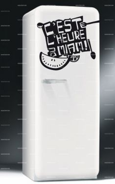 Stickers frigo c'est l'heure du Miam    http://www.idzif.com/idzif-deco/stickers-deco/stickers-frigo/produit-stickers-frigo-c-est-l-heure-du-miam-5991.html
