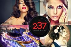237 Premium Photoshop Actions This premium action set has been developed for both photographers and graphic designers., Engineered for superior quality and unmatched performance. Features -