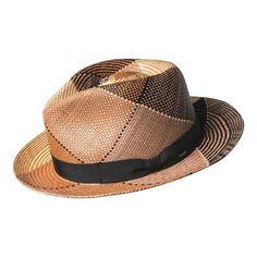 9f4643bf Bailey of Hollywood Giger Genuine Panama 22787 - Brown Plaid Fedoras