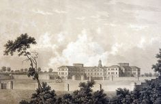 The West Riding Pauper Lunatic Asylum was actually comprised of four different hospitals, this sketch shows the building at Wakefield where these pictures were taken