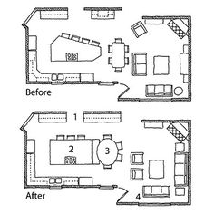 Kitchen for a crowd: Floor Plans