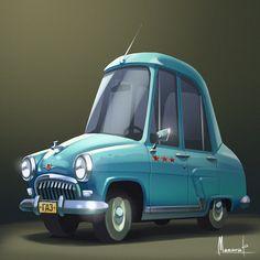 Cars on behance cars em 2019 dessin, vehicule e inspiration. Illustration Art Drawing, Character Illustration, Lightning Mcqueen, Cartoon Styles, Cartoon Art, Character Concept, Character Design, Mustang, Car Drawings