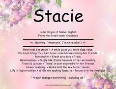 Stacie Name Meaning