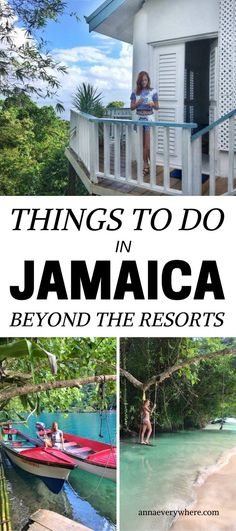 Jamaica is mostly known for resorts in Montego Bay and Ochio Rios. Not surprisingly as there are even overwater bungalows in Jamaica! But there are way more things to do in Jamaica beyond the resorts! Jamaica Honeymoon, Visit Jamaica, Montego Bay Jamaica, Jamaica Resorts, Jamaica Vacation, Jamaica Travel, Inclusive Resorts, Uganda Travel, Thailand Travel