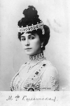 Matilda Kshesinskaya - Russian ballerina of the Imperial Theatre, (and was born in a family of ballet dancers), the beloved House of Romanov men, starting with Nicholas II.