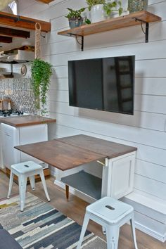 """""""Little House"""" Tiny House for Rent on Airbnb in Portland, Oregon-- 20 Tiny Houses in Oregon You Can Rent on Airbnb TODAY! Tiny House Movement // Tiny Living // Tiny House Living Room // Tiny Home Reading Nook // Tiny House Furniture, Diy Furniture Table, Diy Furniture Plans, Furniture For Small Spaces, Home Furniture, Tiny House Living, Home Living Room, Small Living, Rooms In A House"""