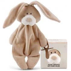 Kaninbamse nusseklud med sutteholder fra Wooly Organic