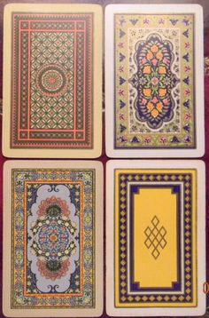 edwardian playing cards