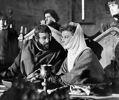 "Peter O'Toole and Katharine Hepburn in ""The Lion in Winter"", movie, (1968)."