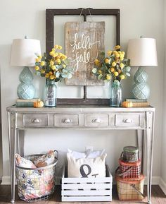 Love your style April! Thanks for including our Plaid Basket Tins in your #homedecor! #farmhouse