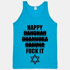 #neon #hanukkah #holiday #shirt Happy Hakuna