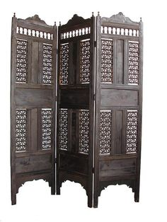 Great dark wooden mosharabia screen