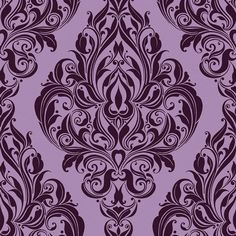 Kinky Vintage Purple Passion Wallpaper by Graham and Brown
