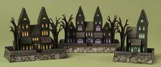MINI HAUNTED HOUSES - Free Printable Toys from RavensBlight.com, to print on heavy card stock