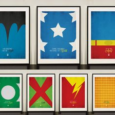 Justice League of America Minimalist Posters | Design Different