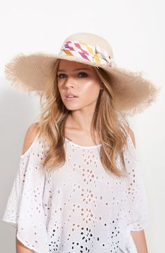 ae2ed450 Sonia Rykiel Straw Sun Hat by nordstrom Summer Hats, Sonia Rykiel, Beach  Hats,