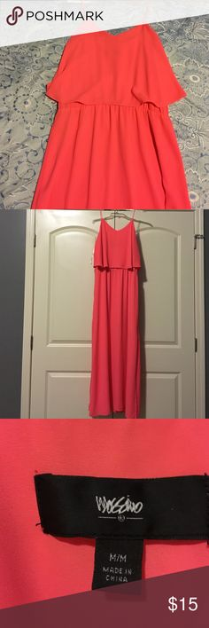Target Maxi Dress! Gorgeous Target maxi dress! Size medium! Worn once as seen in Meet Your Posher pic. Coral! Mossimo Supply Co Dresses Maxi