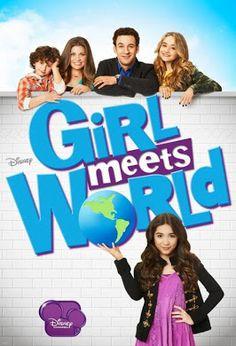"""GIRL MEETS WORLD: Una década después de """"Yo y el mundo"""", Cory y Topanga están casados y tienen dos hijos. La menor se llama Riley, y afronta las lecciones de la vida a través de su familia, amigos, y el colegio, como hicieron sus padres."""
