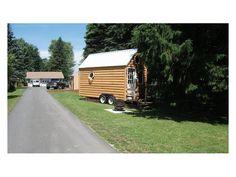 Off Grid Log Cabin on Wheels For Sale