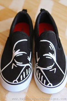 DIY Darth Vader Shoes Craft