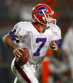 """doug flutie ...""""stylin' and profilin"""", for Da Bills. If that idiot Wade Phiilips hadn't benched him in '99, it would have been 'the little guy from the big field (CFL) in the Super Bowl, versus the big guy (Kurt Warner) from the little field (Arena Football)."""