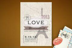J'adore Paris Wedding Invitations by Rachel Wiles/. Paris Invitations, Addressing Wedding Invitations, Unique Wedding Invitations, Wedding Themes, Invites, Wedding Wishes, Diy Wedding, Wedding Ideas, Dream Wedding