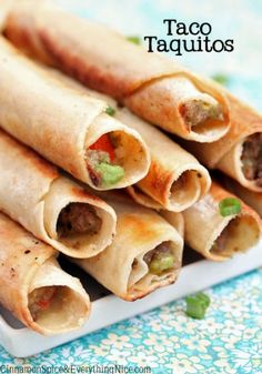 Taco Stuffed Taquitos by Cinnamon Spice and Everything Nice