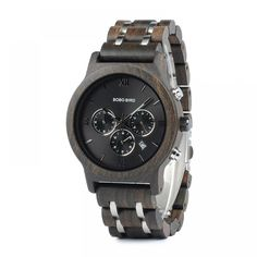 Men's Wooden Metal Design Watches —-> $ 54.99 & Virtually FREE Shipping Welcome to My Watch Plus Store #watch #mywatchplus #watchlover #womenwatches #menwatches #watchfam #watchaholic Cool Watches, Watches For Men, Women's Watches, Wooden Gift Boxes, Wood Boxes, Wooden Watch, Wood And Metal, Wood Steel, Dark Wood