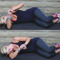 Side lying internal rotation stretch to improve flexibility in the rotator cuff and posterior capsule. Ideally apply over pressure to wrist not hand to avoid cheating. Shoulder Stretches, Back Stretches For Pain, Rotator Cuff Exercises, Stretching Exercises, Chair Exercises, Improve Flexibility, Flexibility Workout, Flexibility Stretches, Shoulder Injuries