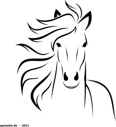 White Horse by @marauder, just a horse made with inkscape, on @openclipart