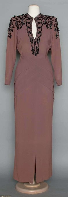 Adrian Evening Dress, 1940s, Augusta Auctions, April 9, 2014 - NYC, Lot 296