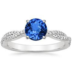 SAPPHIRE PETITE LUXE TWISTED VINE DIAMOND RING