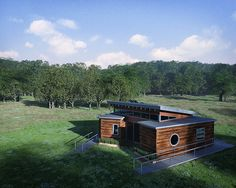 ⌂ The Container Home ⌂ Missouri S&T Solar Decathlon 2015 House Rendering: Bird's Eye 1