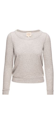Chaser Love Knit Triangle Open Back Long Sleeve Pullover in Heather Grey / Manage Products / Catalog / Magento Admin