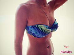 Strapless bikini, size S/M (top:34B)