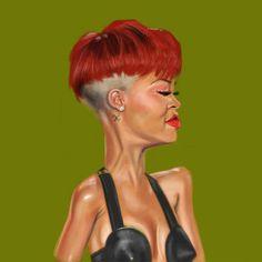 Rihanna by Antonio Pozo