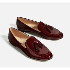 TASSELLED LOAFERS - SHOES-WOMAN-COLLECTION SS/17   ZARA Germany (220 SEK) ❤ liked on Polyvore featuring shoes, loafers, tassle loafers, tassel loafer shoes, tassel shoes, loafer shoes and loafers moccasins