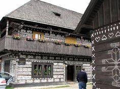 Slovakia, Čičmany - Folk Architecture