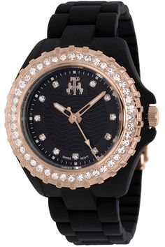 Perfect combination of classy and playful with this Jivago woman's watch