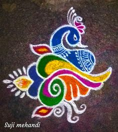 17 Ideas Fashion Illustration Design Simple For 2019 Easy Rangoli Designs Diwali, Indian Rangoli Designs, Rangoli Designs Latest, Simple Rangoli Designs Images, Rangoli Designs Flower, Free Hand Rangoli Design, Rangoli Border Designs, Small Rangoli Design, Rangoli Patterns