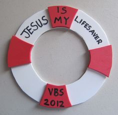 summertime craft you can do with the kids :) Life Preserver Ring Photo Frame used for Promise Island VBS A picture of the student goes inside the open ring. Sunday School Projects, Sunday School Lessons, School Ideas, Bible School Crafts, Bible Crafts, Faith Crafts, Children's Church Crafts, Vbs Crafts, Life Preserver Ring