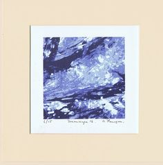 """Items similar to Original, Limited Edition, Art Screenprint on Fabriano Artistico HP paper with water-based inks """"Dreamscape on Etsy Irish Landscape, Irish Art, Landscape Prints, Mark Making, Abstract Styles, Screen Printing, The Originals, Figurative, Screens"""